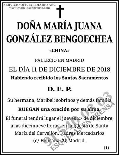 María Juana González Bengoechea